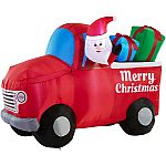 Holiday Decoration Clearance: Holiday Time Airflowz 5.5 ft. Inflatable Santa $23.50 & More