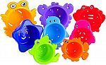 MooToys Under the Sea Animals Bath / SandStacking Cups for Kids $4