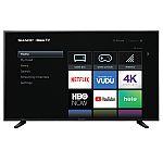 "58"" Sharp 58Q7330U 4K Roku Smart TV $224"
