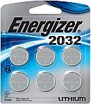 6-Count Energizer CR2032 Watch Battery $4.99 + Free shipping