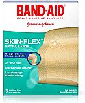 7-Count Band-Aid Skin-Flex Adhesive Bandages (Extra Large) $2.24
