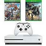 Microsoft Xbox One S 1TB White Console & Sunset Overdrive Video Game Bundle $182