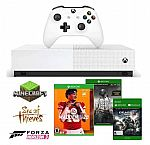 Microsoft 1 TB Xbox One S All Digital Edition with 6 Game Downloads + 1-Mo Xbox Live Gold $229
