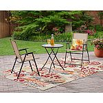 Mainstays Pleasant Grove 3-Piece Folding Bistro Set $37.66 and more