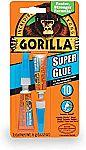 Gorilla Super Glue, Two 3 Gram Tubes $2.59