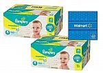 396 Count Pampers Swaddlers Diapers Size 1, $95 + $20 Walmart Gift Card