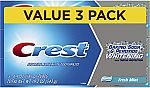 3-Count 6.4-oz Crest Baking Soda & Peroxide Whitening With Tartar Protection Toothpaste (Fresh Mint) $4