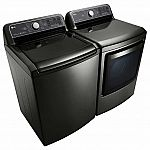 LG 5.2CF Top Load Washer + 7.3CF Electric TurboSteam Dryer $1399.99 + Free shipping