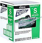 500-Count Ziploc Sandwich Bags $13.47