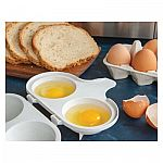 Nordic Ware Microwave 2 Cavity Egg Poacher $2.17