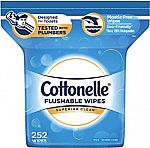 252-Count Cottonelle FreshCare Flushable Wipes $6.23 or Less