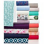Sanders Microfiber Sheet Sets: King, Queen or Full $18; Twin $9