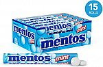 15-Rolls (1 Box) Mentos Chewy Mint Candy Roll $6.73