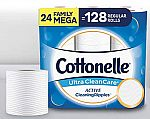 24-Count Cottonelle Ultra CleanCare Toilet Paper Family Mega Rolls $19.49 or Less