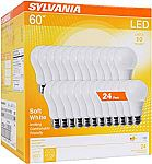 24-Pack Sylvania 60W Equivalent Soft White LED Light Bulbs $24 + Free Shipping