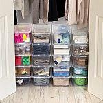 20-Pack 5-Qt Mainstays Shoe Box Storage $12.50 (Org $25)