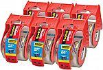 """6-Pack Scotch Heavy Duty Packaging Tape w/ Dispenser (1 7/8"""" x 22.2yd.) $8.67"""