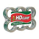 6-Rolls Duck HD Clear Heavy Duty Packaging Tape Refill $7.94