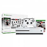 Microsoft Xbox One S 1TB NBA 2K19 Bundle $167