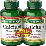 480-Ct Nature's Bounty Calcium Pills and Vitamin D3 Mineral Supplement $4.50 & More