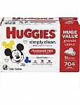 HUGGIES Simply Clean Fragrance-free Baby 704 Wipes 2 boxes for $21.56