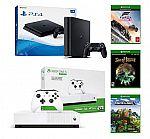 PlayStation 4 Slim 1TB Console + Xbox One S 1TB All-Digital Edition Console $377