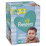 1440-Count Pampers Baby Wipes Complete Clean Scented 10X Pop-Top Packs $19.57