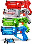 Dynasty Toys Family Laser Tag Set - 4 Laser Tag Blasters and 1 Target Robot Bug $19.49