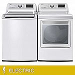 LG 5.0CuFt Washer and 7.3CuFt ELECTRIC WiFi Enabled Top Load Laundry Package $1250