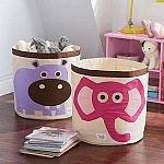 3 Sprouts Canvas Storage Bin for Laundry and Toy $8.15