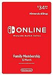 Nintendo Switch Online Family Membership 12 Month (Digital) $27.99