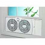 """Holmes Basic Window Fan $10.53, 32"""" Oscillating Tower Fan $19.59 and more"""