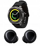 Samsung Gear Sport Smart Watch + Samsung Galaxy Buds, True Wireless Earbuds $220