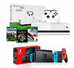 Gaming Console Bundle Deals: Nintendo Switch + Xbox One S 1TB All-Digital Edition Gaming Console $429 and more