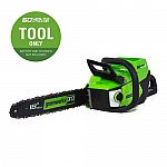 "Greenworks 60V Max Li-Ion 18"" Brushless Cordless Electric Chainsaw (Tool only) $99.50 (50% off) and more)"