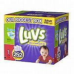 4x 252-Pack Luvs with Ultra Leakguards Size 1 (1008 Diapers) $90