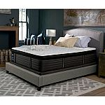 "Searly Response Premium 16"" Queen or King Euro Pillowtop Mattress with Low Profile Foundation Set $550, King $750"