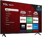 TCL 55S425 55 inch 4-Series Roku 4K Ultra HD TV $270