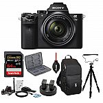 Sony Alpha A7ii Mirrorless Camera With 28-70mm Lens And 64GB Card Bundle $940