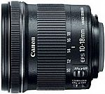 Canon EF-S 10-18mm f/4.5-5.6 IS STM Lens $199.99