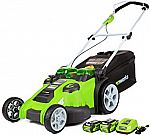 Greenworks 20-Inch 40V Twin Force Cordless Lawn Mower w/4.0 AH & 2.0 AH Batteries $215 (Org $399)