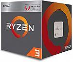 AMD Ryzen 3 2200G Processor with Radeon Vega 8 Graphics $60 (Reg. $100)