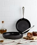 """All-Clad Hard Anodized 8"""" & 10"""" Fry Pan Set $28"""