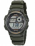 Casio Men's '10-Year Battery' Quartz Resin Watch $4