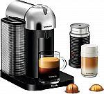 Breville Nespresso Vertuo Coffee and Espresso Machine Bundle w/ Aeroccino Milk Frother $125 (50% Off)