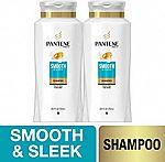 2-Pack 25.4oz. Pantene Pro-V Smooth and Sleek Frizz Control Shampoo w/ Argan Oil $9.10