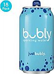 18-Pack of 12-oz Bubly Sparkling Water (Just Bubly) $6 and more