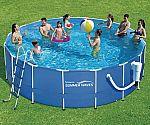 "Summer Waves Metal Frame Pool (17' x 52"") $38 (90% Off) YMMV"