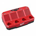 Milwaukee M12 12-Volt Lithium-Ion 4-Port Sequential Battery Charger $49 (52% off)