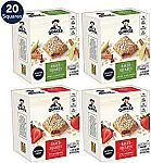 4-Boxes Quaker Baked Squares Soft Baked Bars (Apple Cinnamon & Strawberry) $7.50 or Less